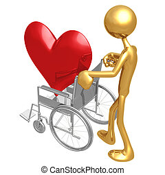 Heart Health Wheelchair - 3D Concept And Presentation Figure