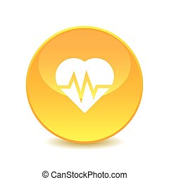 heart , heart icon on white background , Vector.