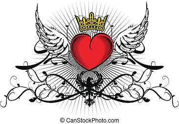 heart heraldic10 - heart heraldic in vector format
