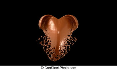 Heart hot chocolate shape splashes