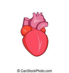 Heart human icon, cartoon style