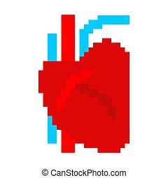 Vector 8 Bit Pixel Art Broken Heart Card Vector 8 Bit Pixel