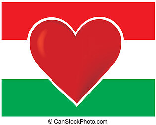 Heart Hungary Flag