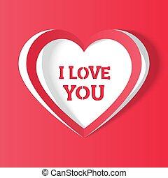 heart i love you. handmade