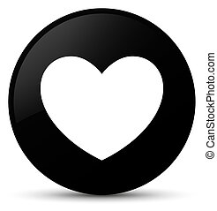 Heart icon black round button