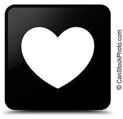 Heart icon black square button