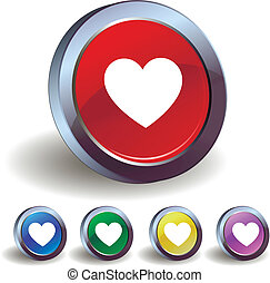 Heart icon buttons