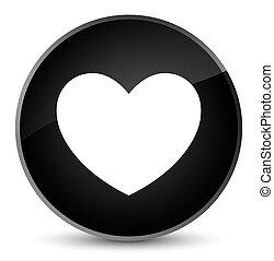 Heart icon elegant black round button