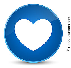 Heart icon elegant blue round button