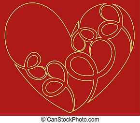 Heart icon. Flat design. Vector illustration eps10