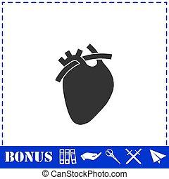 Heart icon flat