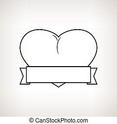 Heart and Ribbon on a Light Background