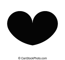 heart icon illustrated in vector on white background