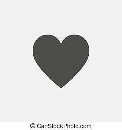 Heart icon in black color. Vector illustration eps10