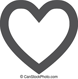 Heart icon in black on a white background. Vector illustration