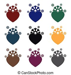 Heart icon in black style isolated on white background. Romantic symbol stock vector illustration.