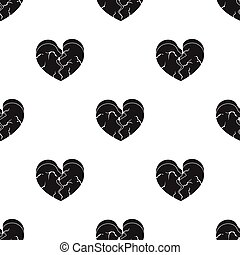Heart icon in black style isolated on white background....