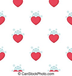 Heart icon in cartoon style isolated on white background. Romantic pattern stock vector illustration.