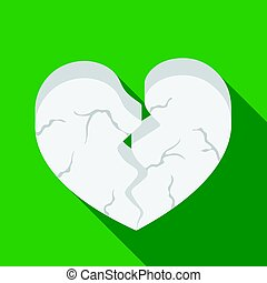 Heart icon in flat style isolated on white background. Romantic symbol stock vector illustration.