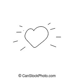 Heart icon in hand drawn style. Vector illustration