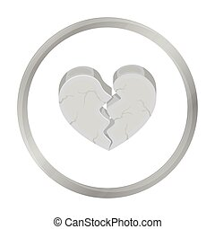 Heart icon in monochrome style isolated on white background....
