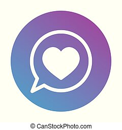 Heart icon in the circle