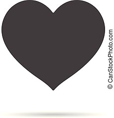 Heart Icon Isolated On A White Background. Vector Sketch Style Illustration.