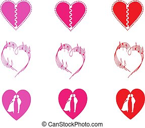 heart icon isolated on white background