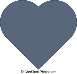 Heart icon isolated on white background. Vector