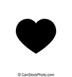 Heart icon. Love symbol. Valentine s Day sign