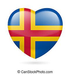 Heart icon of Aland Islands - I love Aland Islands. Heart ...