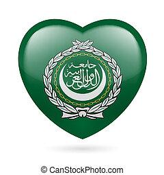 Heart icon of Arab League