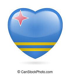 Heart icon of Aruba