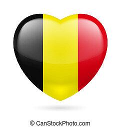 Heart icon of Belgium