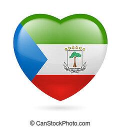 Heart icon of Equatorial Guinea - I love Equatorial Guinea....