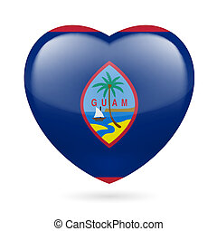 Heart icon of Guam