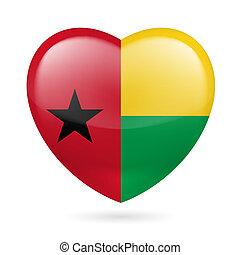 Heart icon of Guinea Bissau - I love Guinea Bissau. Heart...