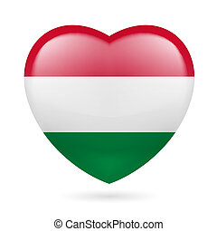 Heart icon of Hungary