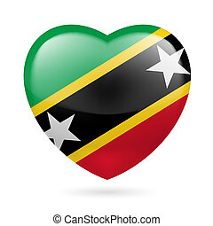 Heart icon of Saint Kitts and Nevis