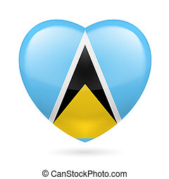 Heart icon of Saint Lucia