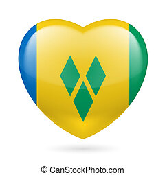 Heart icon of Saint Vincent and the Grenadines - Saint...