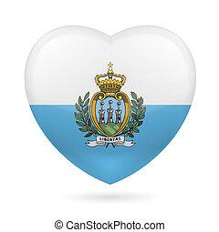 Heart icon of San Marino - I love San Marino. Heart flag ...