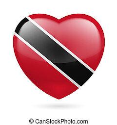 Heart icon of Trinidad and Tobago - I love Trinidad and...