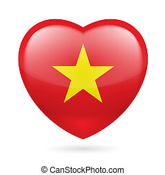 Heart icon of Vietnam