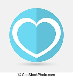 heart icon on a white background