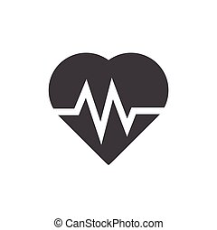 heart icon on white background , Vector.