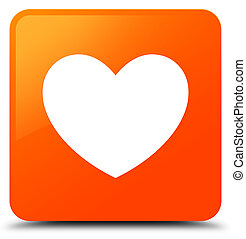 Heart icon orange square button
