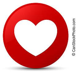Heart icon red round button