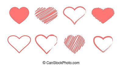 Heart icon sign simple design