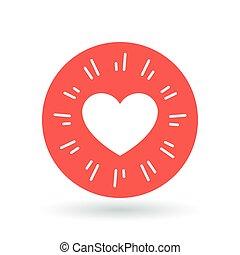 Heart icon. Simple heart sign. Love symbol. Vector illustration.